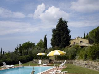 Farmhouse in hilly Tuscan countryside with great views and pool access - Montecatini Val di Cecina vacation rentals