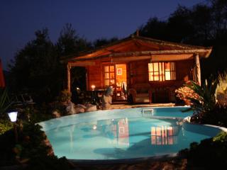 Romantic Log Cabin with Pool & private gardens - Monda vacation rentals