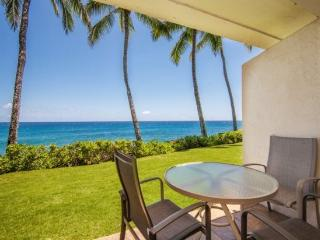 Poipu Shores 102A, Awesome ocean front condo with stunning ocean views. Ground floor unit. Heated pool. Free car* with stays of  - Poipu vacation rentals