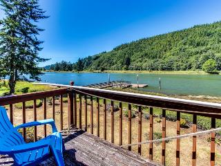 Stylish riverfront home w/ floating boat dock & a dog-friendly attitude! - Waldport vacation rentals