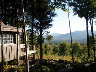 Secluded rustic cabin on 70 acres- mountain views! - Oquossoc vacation rentals