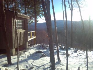 Secluded rustic cabin on 70 acres- mountain views! - Western Maine vacation rentals