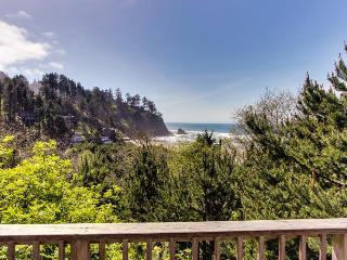 Ocean view home w/ two decks, beach access, & cozy fireplace - Neskowin vacation rentals