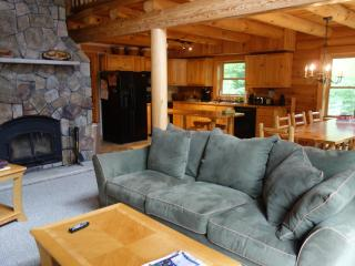 Spacious Log Home on Newfound Lake - semi private - Lakes Region vacation rentals
