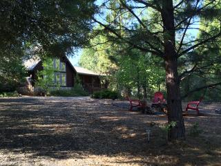 Gorgeous log cabin on 6.5 acres of tranquility amongst beautiful pine, pine, cypress, and redwood trees - Volcano vacation rentals