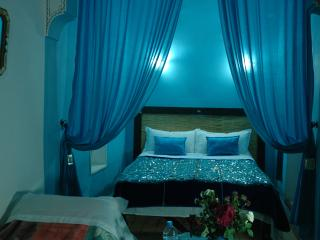 Turquoise blue, private room is on first floor.. - Marrakech vacation rentals
