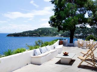 Beachfront White Villa in Skiathos - Kanapitsa vacation rentals