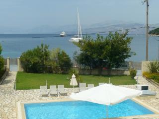 Avlaki beachfront villa with pool in Kassiopi - Kato Korakiana vacation rentals
