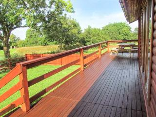 LAKE VIEW LODGE, WiFi, en-suite facilities, on-sitge fishing, ground floor accommodation, near Shepton Mallet, Ref. 26049 - Chelynch vacation rentals