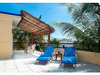 LARGE MODERN 3RD FLOOR APARTMENT, FRESH BREEZE, HUGE DECK, PRIVATE & QUIET - Puerto Morelos vacation rentals