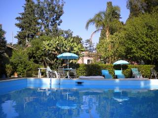Wonderful studio in a villa with pool and tropical - Viagrande vacation rentals