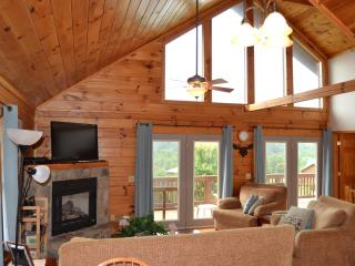Two Story Log Cabin w/Hot Tub, Mountain Views - Maggie Valley vacation rentals