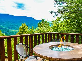 Mountain views and table top firepit on deck! - Gatlinburg vacation rentals