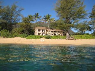 Step out the door and onto the beach from this Haena home - Wainiha vacation rentals