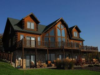 Exquisite 5 Bedroom Luxury Log home offers amazing lake & mountain views! - Swanton vacation rentals