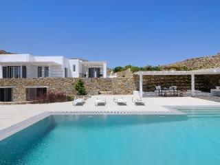 Chic seafront Villa Neeson with pool, terrace, direct beach access & daily maid - Mykonos vacation rentals