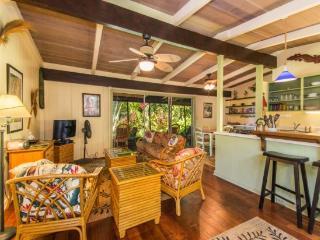 Manako Hale Authentic Hawaiian charming three bedroom, two bath home surrounded by beautiful vegetation. - Kaimu vacation rentals