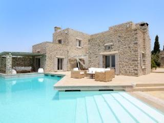 Stone-built Villa Earvin has pool, sea views & staff - close to the beach - Aliki vacation rentals