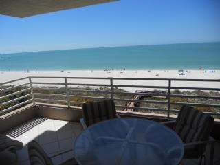 Balcony View - Serene Sunset views of the beautiful Gulf of Mexico from the balcony of this prime unit ! - Marco Island - rentals