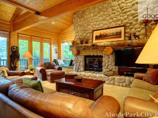 Hand-Peeled Pine Walls and 3 Fireplaces make this Deer Valley a winner! - Park City vacation rentals
