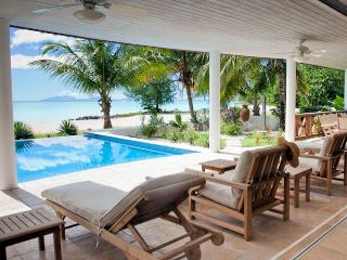 Villa Nirvana Beach House - Jolly Harbour, Antigua - Beachfront, Gated Community, Pool - Long Bay vacation rentals