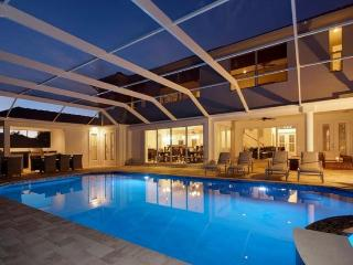 2013 completed beautiful Villa-Illuminated pool-Luxury furnishings-Bar-Boating dock-5 bedrooms - Saint James City vacation rentals