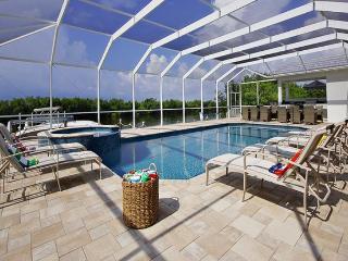 2013 completed beautiful Villa-Illuminated pool-Luxury furnishings-Bar-Boating dock-5 bedrooms - Saint James City vacation rentals