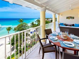 Tropical oceanfront 3 bedroom, 3 bathroom penthouse with communal pool and access to the beach. - Saint Lawrence Gap vacation rentals