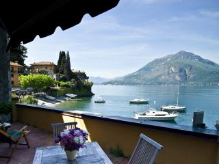 Front lake view Casa Rossa Mezzanine Apartment - Varenna vacation rentals