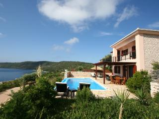 Seafront villa ADAM in Lefkada up 8 pers.private pool, 20m private sea area - Vasiliki vacation rentals