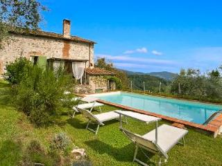Hilltop Casa Fiora with two terraces and saltwater pool overlooking hills and valleys - Valdottavo vacation rentals
