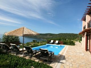 15% First minute seafront luxury villa EVA(8+2),private pool, 30m from the sea - Vasiliki vacation rentals