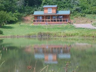 """Time to Unwine"" Pond front and Blue Ridge  Parkway  cabin - Fancy Gap vacation rentals"