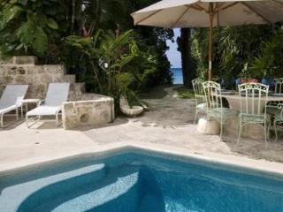 Located on famous Gibbs Beach in St. Peter 3 bedroom 2 bathroom coral stone townhouse with private plunge pool and tropical garden which leads to the beautiful beach. - Gibbs Bay vacation rentals