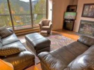 Living area - Outstanding View of Keystone Ski Mountain -Hot Tub- Elevator-Covered Parking - Keystone - rentals