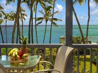 FREE Mid-size car Poipu Palms 102 Oceanfront 2 bed/2 bath in a small complex. - Poipu vacation rentals