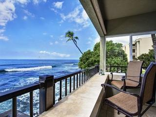 Ocean Front! Watch Surfers and Dolphins from The Banyan Tree Condo  #200A - Kailua-Kona vacation rentals
