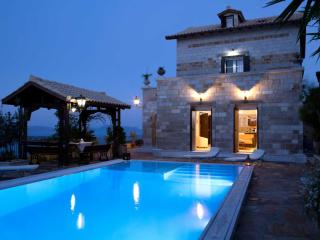 Brand new stone-built traditional villa with great view and pool - OFFER! - Kariotes vacation rentals