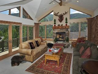 A vacation home rental in Vail featuring specially nice scenic mountain views, wrap-around decks and high-end finishes. - Vail vacation rentals