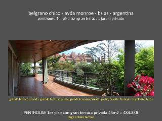 4 BDR Amazing Penthouse Bajo Belgrano big terrace! - Capital Federal District vacation rentals