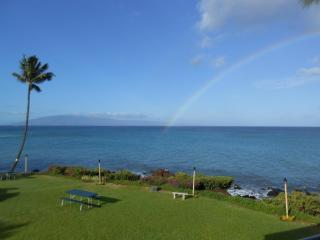 July Discount! Stunning views, ocean FRONT, 2 king beds, free wi-fi & parking. - Lahaina vacation rentals