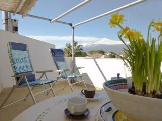 Beachfront 1-room apartment with perfect sea view - Giardini Naxos vacation rentals
