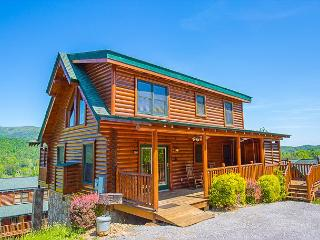 April Special from $189! 3BR Log Cabin w/ Views, Hot Tub, 5 TVs, & More! - Pigeon Forge vacation rentals