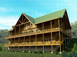 11 BR Luxurious Pigeon Forge Lodge. Sleeps 52. December Special from $499! - Pigeon Forge vacation rentals