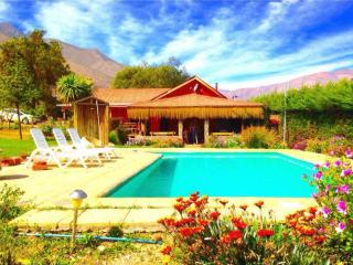 Cabaña del Pisco,  San Isidro, piscina privada. - Paihuano vacation rentals