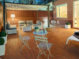 Barcelona Plaza Terrace near Plaza Catalunya. - Catalonia vacation rentals