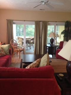 Looking out onto screen in porch - Comfortable 3/3 Condo Near Beach & Main St. - North Myrtle Beach - rentals