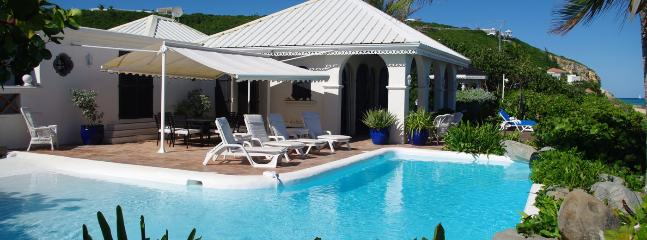 Villa La Mission SPECIAL OFFER: St. Martin Villa 133 Spacious Beachfront, Hacienda-style Villa Directly On Bay Rouge. - Baie Rouge vacation rentals