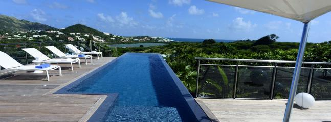 St. Martin Villa 367 A Contemporary Style Villa Located Close To The Orient Bay Area, On A Hill Side With Views East To The Atlantic Ocean. - Hillside vacation rentals