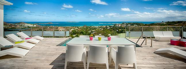 SPECIAL OFFER: St. Martin Villa 413 A Lovely Sun Deck And Plunge Pool With Modern Luminous Patio Furniture. Enjoy A Fabulous Vie - Orient Bay vacation rentals